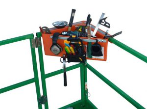 Aerial Tool Bin by DeMore's Innovative Design, Inc.